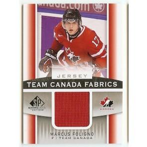 2013-14 UD SP Game Used Marcus Foligno Team Canada Fabrics
