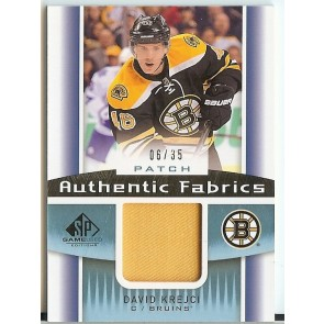 2013-14 UD SP Game Used David Krejci Game Patch 06/35