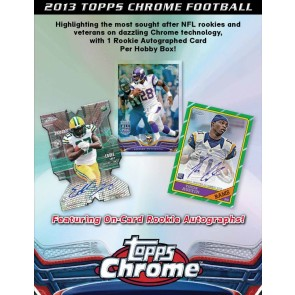 2013 Topps Chrome Football Factory Sealed Hobby Box