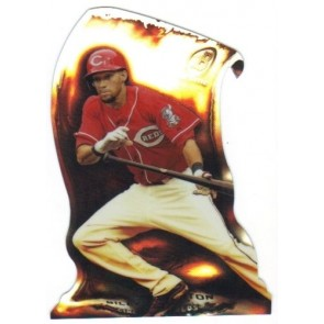 2014 Bowman Chrome Fire Die Cut Refractor Billy Hamilton