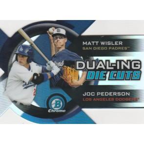 2014 Bowman Chrome Matt Wisler - Joc Pederson Dual-ing Die Cuts