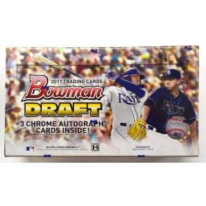 2017 Bowman Draft Baseball Hobby Jumbo Box - 3 Autos per Box