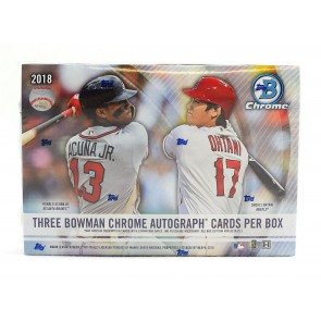 2018 Bowman Chrome Baseball Factory Sealed HTA Box