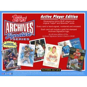 2018 Topps Archives Signature Series Baseball