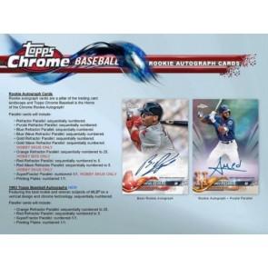 2018 Topps Chrome Baseball Factory Sealed HOBBY JUMBO BOX 5 AUTOGRAPHS PER BOX