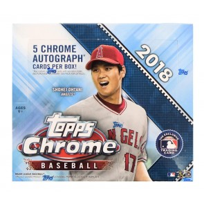 2018 Topps Chrome Baseball Factory Sealed HOBBY JUMBO BOX 5 AUTOGRAPHS PER BOX