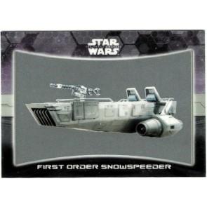 2016 Star Wars Force Awakens Chrome Ships Vehicles #6 First Order Snowspeeder