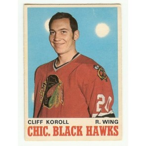 1970-71 O-Pee-Chee Cliff Koroll Base Single NM-MT
