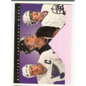 1994-95 Donruss Dominators Card #8 Teemu Selanne Pavel Bure Brett Hull