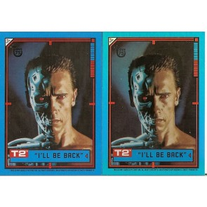 2013 TOPPS 75TH ANNIVERSARY #97 TERMINATOR 2 - JUDGEMENT DAY FOIL & BASE CARD