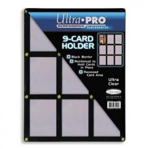 Ultra Pro Black Frame 9 Card Screwdown (2 lot)