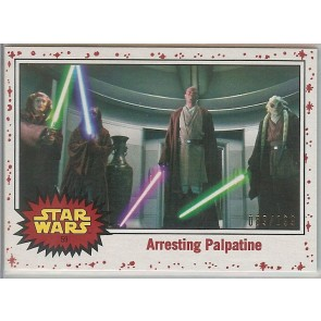 2017 Star Wars Journey to Last Jedi WHITE parallel #59 Arresting Palpatine 089/199