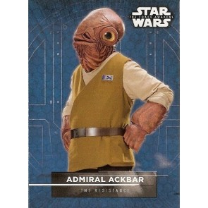 2016 Star Wars The Force Awakens Series Two Character Stickers Admiral Ackbar