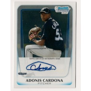 2011 Bowman Chrome Adonis Cardona Autograph Rookie