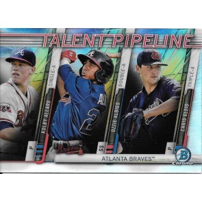 2017 Bowman ALLARD/ALBIES/ELLIS TALENT PIPELINE Chrome Ref Team Insert BRAVES