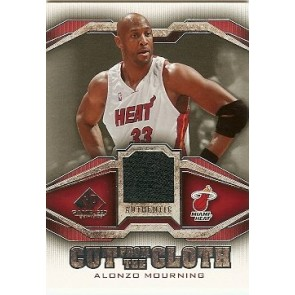 2007-08 SP Game Used Alonzo Mourning Cut From the Cloth Jersey