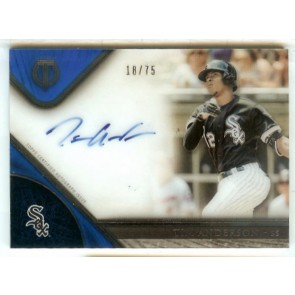 2018 Topps Tribute TIM ANDERSON ON CARD Auto Acetate #'d 18/75 White Sox