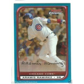 2008 BOWMAN CHROME ARAMIS RAMIREZ BLUE REFRACTOR #'d 140/150 Card #118 CUBS