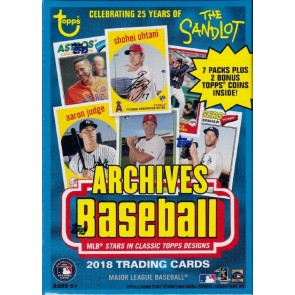 2018 Topps Archives Baseball 8 Pack Blaster Box FACTORY SEALED