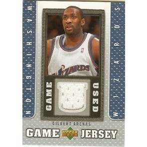 2007-08 Upper Deck Gilbert Arenas Game Jersey