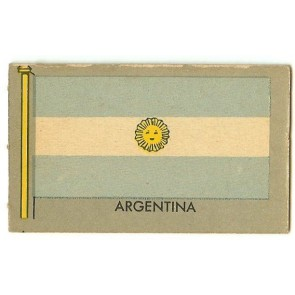 1950 Topps Flags of the World ARGENTINA