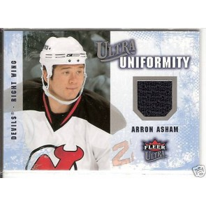 2008-09 Fleer Ultra Arron Asham Uniformity Authentic Jersey