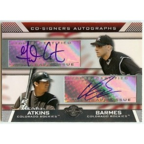 2007 Topps Co-Signers Garrett Atkins Co-Signers Autograph Dual Auto w/ Clint Barmes
