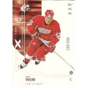 2001-02 Upper Deck SPX Sean Avery Rookie 195/999