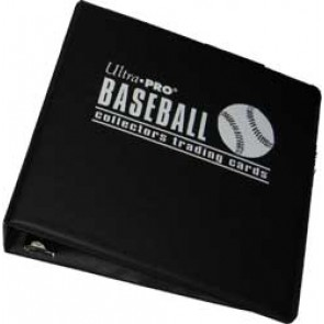 "Ultra Pro 3"" Baseball Binder Black"