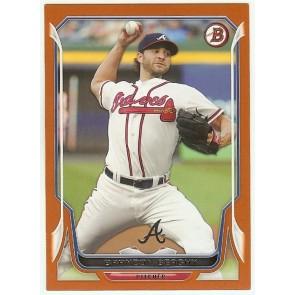 2014 Bowman Brandon Beachy Orange Paper Braves Card #4 073/250
