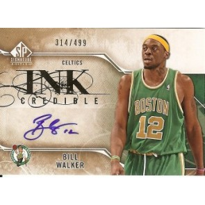2009-10 Upper Deck SP Signatures Bill Walker Ink Credible Autograph 314/499