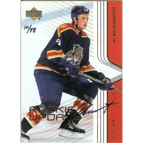 2003-04 Upper Deck Jay Bouwmeester SP Authentic Buyback Rookie Update Auto 10/48