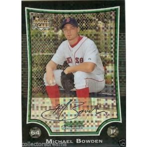 2009 Bowman Chrome Black Refractor #194 Michael Bowden 194/250 Boston Red Sox