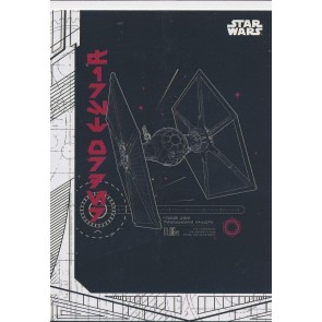 2017 Topps Star Wars Last Jedi BLUEPRINTS BP-5 TIE FIGHTER