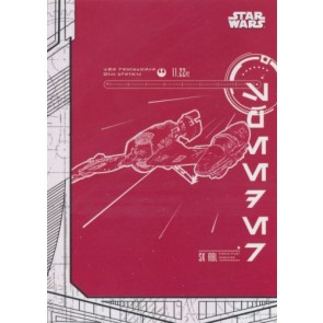2017 Topps Star Wars Last Jedi BLUEPRINTS BP-2 SKI SPEEDER
