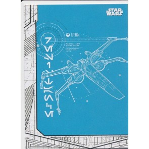 2017 Topps Star Wars Last Jedi BLUEPRINTS BP-4 X-WING