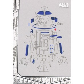 2017 STAR WARS THE LAST JEDI BLUEPRINTS SINGLE CHASE CARD #BP-7