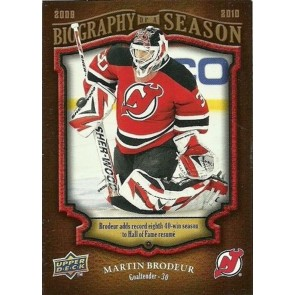 2009-10 Upper Deck Biography of a Season Martin Brodeur Card# BOS-29