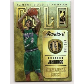 2012-13 Panini Gold Standard Brandon Jennings 063/199