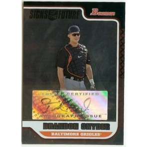 2006 Bowman Brandon Snyder Signs of the Future Autograph