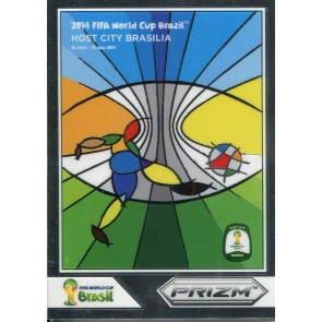 2014 Panini Prizm Fifa World Cup Host Cities Brasilia Prizm Refractor