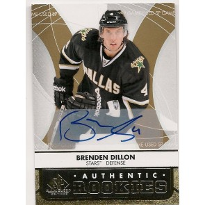2012-13 UD Black Diamond Brenden Dillon Auto Rookie