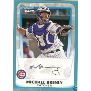 2011 Bowman Prospects Blue Card #BP15 Michael Brenly 078/500 CUBS