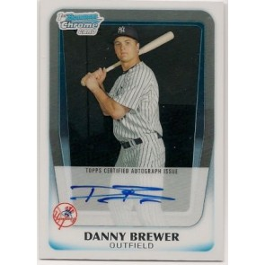 2011 Bowman Chrome Danny Brewer Autograph Rookie