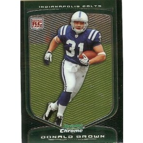 2009 Bowman Chrome Donald Brown Rookie