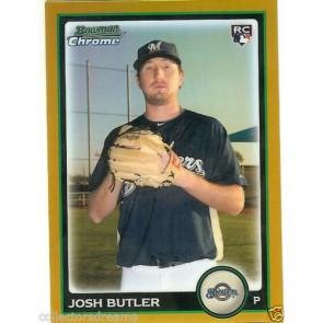 2010 Bowman Chrome Draft Josh Butler Gold Refractor RC Rookie 44/50