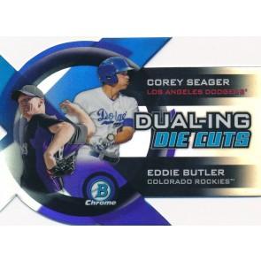 2014 Bowman Chrome Butler Corey Seager - Eddie Butler Dualing Die-Cut