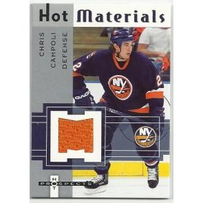 2005-06 Fleer Hot Prospects Chris Campoli Hot Materials Game Jersey