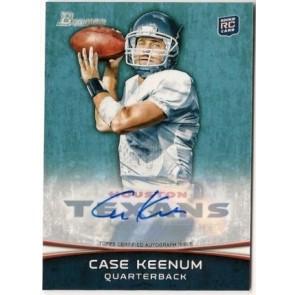 2012 Bowman Signatures Case Keenum Autograph Rookie