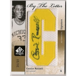 2011-12 Upper Deck SP Authentic Cazzie Russell By the Letter Autograph Patch 30/50